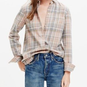 madewell ex boyfriend button down